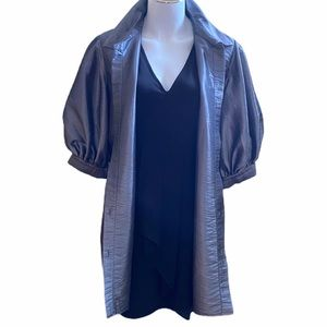 Précis Dove silver gray puffy sleeved tunic top,